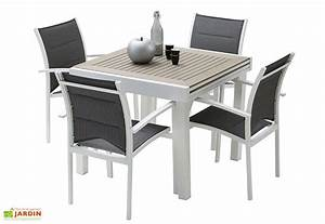 Table De Jardin Extensible : salon de jardin modulo table extensible en polywood 4 ~ Dailycaller-alerts.com Idées de Décoration