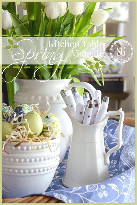 spring kitche table vignette stonegable