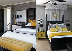 Tapeten Schlafzimmer Grau : gelb raumgestaltung mit sonnigem akzent freshouse ~ Markanthonyermac.com Haus und Dekorationen