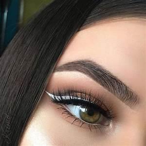 White eyeliner, Boho and Beauty makeup on Pinterest