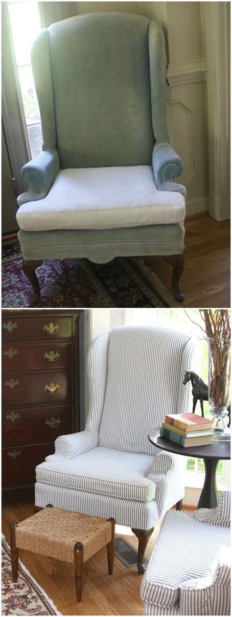 updated vintage ethan allen wingback chairs  lovely
