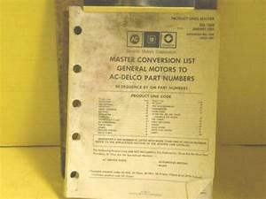 1993 Ac Delco Master Conversion Catalog    Manual Guide Gm