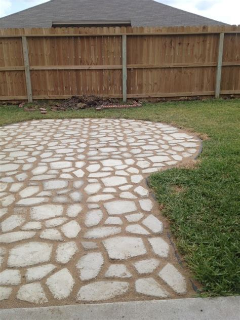 walkmaker path made by hand from quikrete easy and