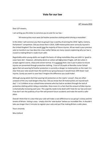 Persuasive letter comprehension KS2 by eckford91