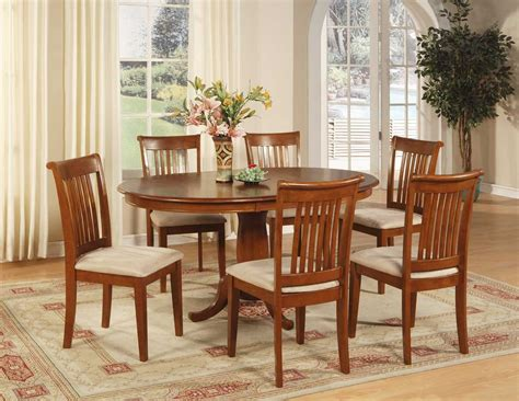 pc oval dinette dining room set table   chairs