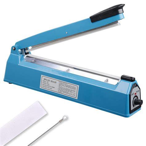 yescom  impulse manual hand sealer heat sealing machine poly tubing plastic bag