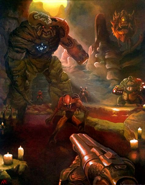 Doom Painting By Xous54 On Deviantart