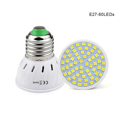 1pcs e27 ac 220v 5w 7w 9w 2835 smd led spotlight bulb 48 60 80 leds l spot light for indoor