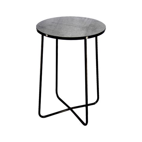 unique black metal outdoor side table marble iron