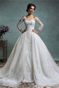 vintage lace wedding dresses with sleeves unique mermaid vintage lace sleeve wedding dress with detachable skirt jacket