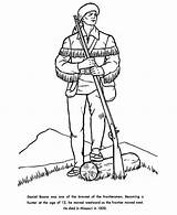 Coloring Daniel Boone Hunter Sheet sketch template