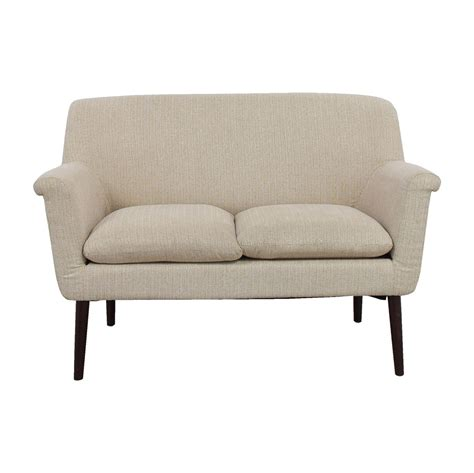 Rolled Arm Settee by 37 Park Park Davenport Beige Rolled