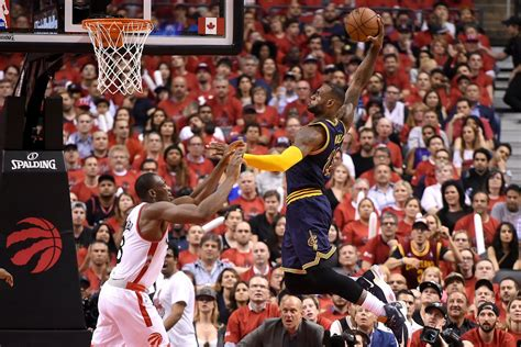 cavaliers  raptors  results lebron james advances