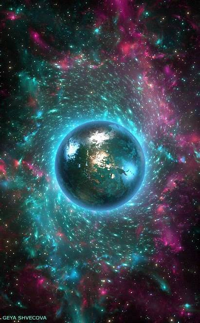 Space Trippy Gifs Outer Animated Galaxy Universe