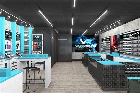 our new vape shop design uses color to make information