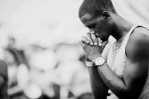 Black And White Photos Of People Praying For Others In