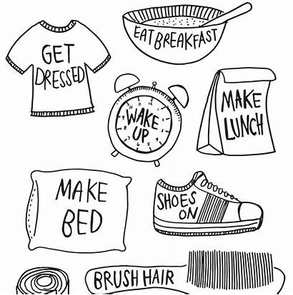 Routine Morning Routines Daily Clipart Printable Activities