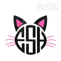 initial fonts for monogram cat monogram embroidery design