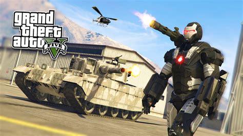 War Machine Iron Man Mod!!! Gta 5 War
