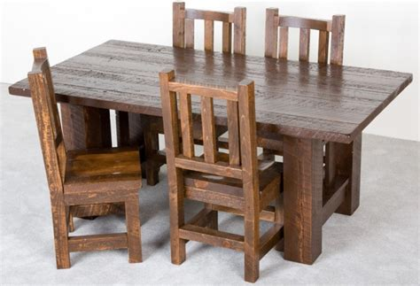 barnwood mission table barnwood tables and dining room