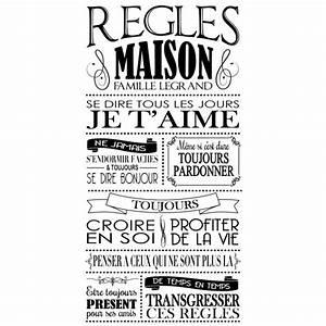 Regle De Vie A La Maison : affiche r gles de la maison vintage personnalis e ~ Dailycaller-alerts.com Idées de Décoration