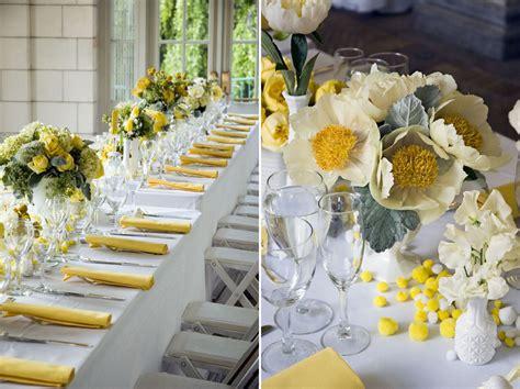 decoration mariage jaune  blanc