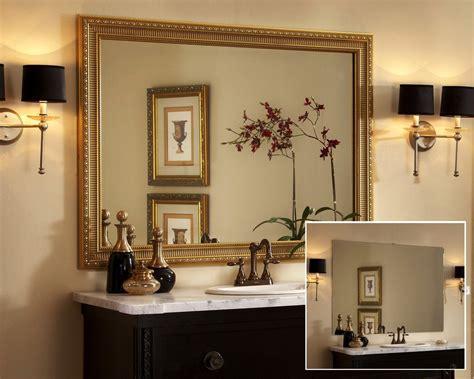 bathroom mirror ideas brown framed bathroom mirrors house decor ideas