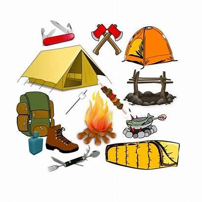 Clip Camping Camp Summer Tent Clipart Bag