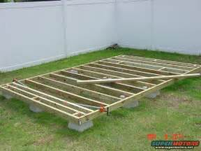 floating deck footing spacing deck block overhang okay small cabin forum
