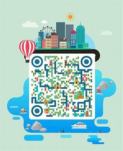 Coding Illustration Graphic Ui Cn Qr Code