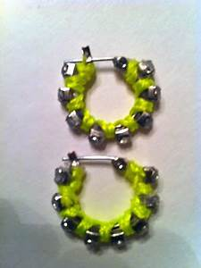 expressive style DIY Neon Rhinestone Hoop Earrings
