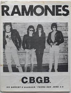 Ramones – 1975 CBGB Handbill and Earliest Press Kit