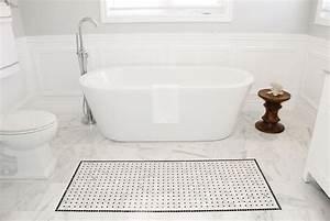 Bathroom delectable herringbone marble bathroom floor for Marble bathroom tiles pros and cons