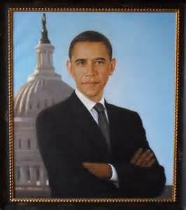 Barack Obama Portrait Painting
