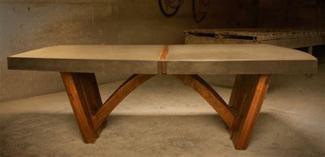tisch mit betonplatte beton tisch eine originelle einrichtungsidee archzine net