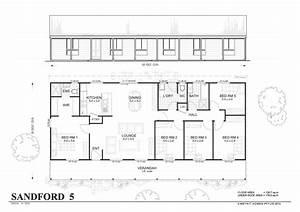 Sanford Met Kit Homes Bedroom Steel Frame Home Floor Plan