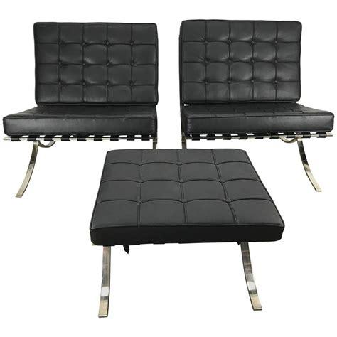 mies van der rohe ottoman classic pair barcelona chairs with ottoman mies van der