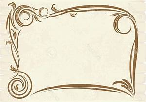 Top 10 Old Frame Vector Stock Border Certificate Swirl Design