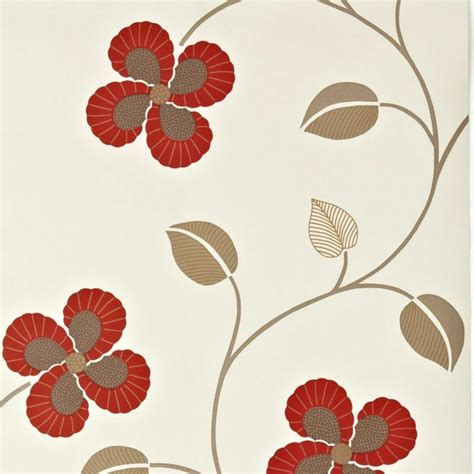 bq wallpaper windmill red floral design effect