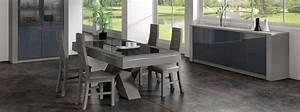 Salle a manger solfege chene finitions verre meubles for Salle À manger contemporaine avec salle a manger bois massif