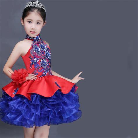 jual sale murah dress embroidery red blue big size gaun