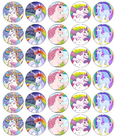 rice paper l x 30 unicorn horse cupcake toppers edible wafer paper ebay