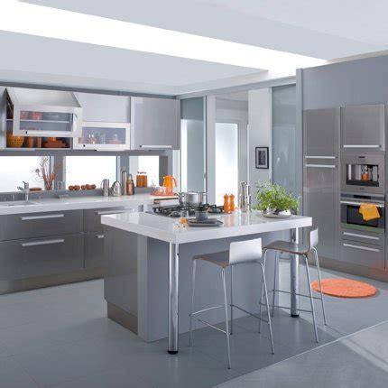 facade de cuisine lapeyre cuisine silver grise en mélamine lapeyre maison
