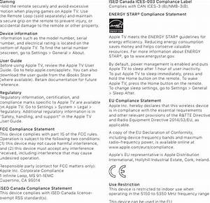 Apple A1842 Apple Tv 4k User Manual 01