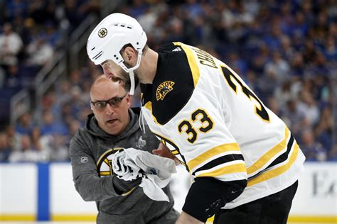 chara hurt bruins      stanley cup game