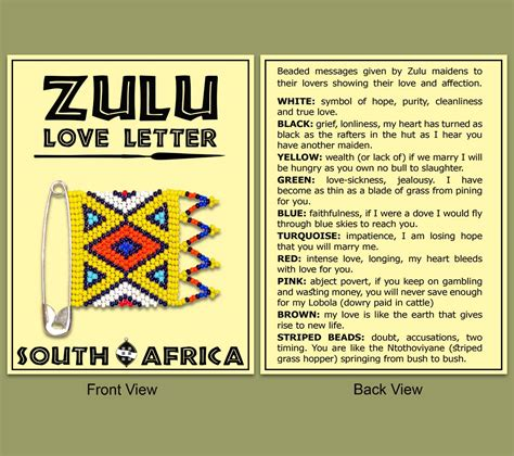 They'll know my voice when they hear it, sir. Zulu Love Letter - Wholesale Suppliers - EARTH AFRICA