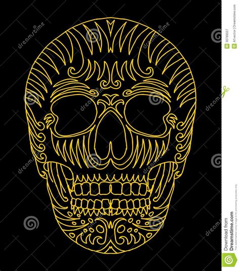 tattoo tribal mexican skull vector art royalty  stock photography image