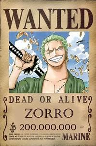 roronoa zoro, wanted poster zoro 200,000,000 | anime ...