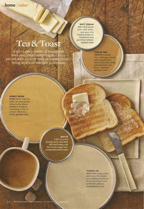 bhg tea toast color palette interiors by color