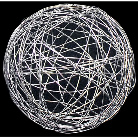 wire balls 3 quot wire balls silver 6 xq12835 20 craftoutlet